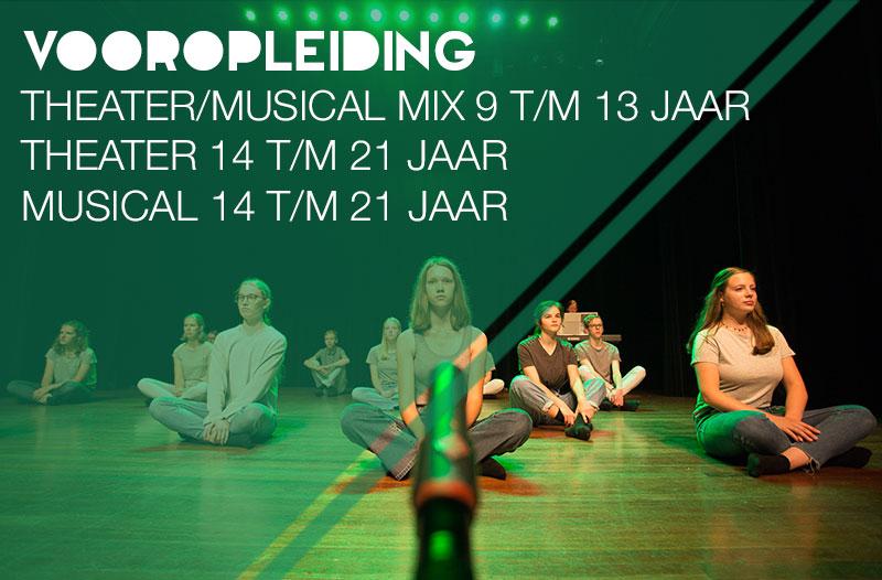 vooropleiding Theater en Vooropleiding Musical Jeugdtheaterschool Zwolle